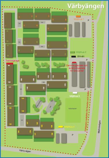 Värbyängen Områdeskarta